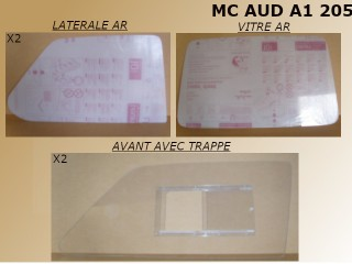KIT POLYCARBONATE 5mm AUDI 100